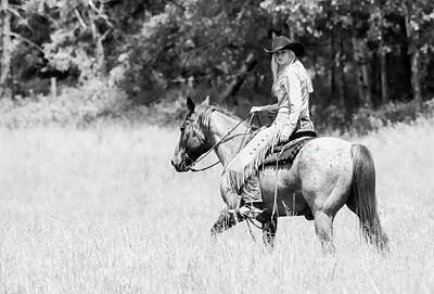 Photograph - Cowgirl Horseback Riding by Athena Mckinzie