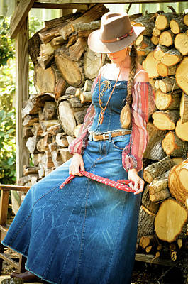 Photograph - Cowgirl In Contemplation by Nancy Taylor