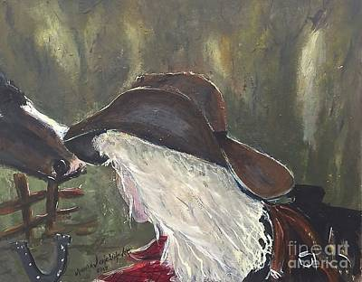 Painting - Cowgirl by Miroslaw  Chelchowski
