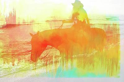 Photograph - Cowgirl On The Beach Abstracted by Alice Gipson