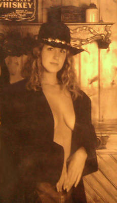Suggestive Photograph - Cowgirl by Pat Turner