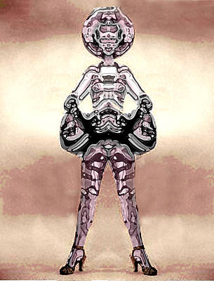 Cowgirl Art Print by Peter Lloyd