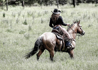 Photograph - Cowgirl Ranch Hand II by Athena Mckinzie
