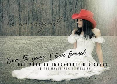 Cowgirl Red Quote Art Print by JAMART Photography