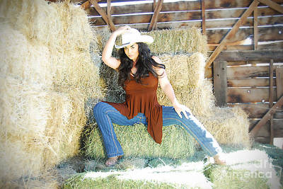 Photograph - Cowgirl by Robert WK Clark