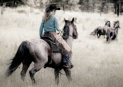 Photograph - Cowgirl Round Up by Athena Mckinzie