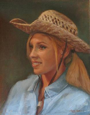 Painting - Cowgirl by Sharon Weaver