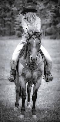 Photograph - Cowgirl Shy by Athena Mckinzie