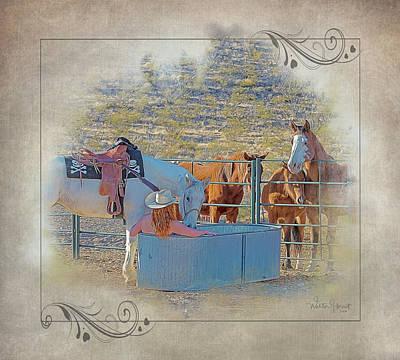 Digital Art - Cowgirl Spa 5p Of 6 by Walter Herrit