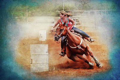Barrel Racing Photograph - Cowgirl Trust by Toni Hopper
