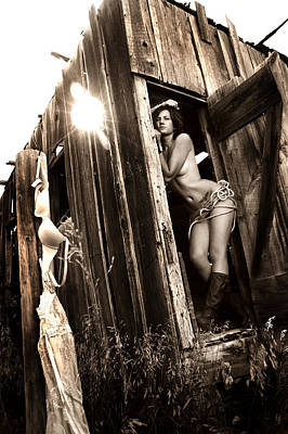 Nude Cowgirl Photograph - Cowgirl Undressed by Sleepy Weasel