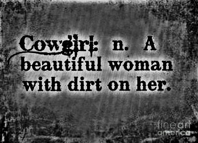 Cowgirls B-w Art Print