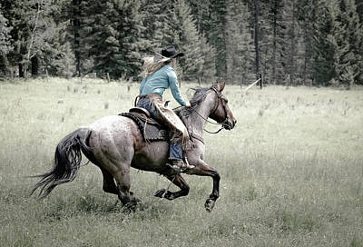 Photograph - Cowgirls Blazing Saddle by Athena Mckinzie