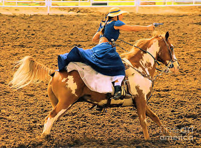 Photograph - Cowgirls Can Shoot by Cheryl Poland
