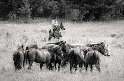 Photograph - Cowgirls Horse Ranch by Athena Mckinzie