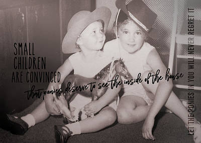 Cowgirls Quote Art Print by JAMART Photography