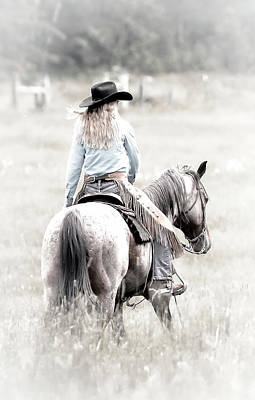 Photograph - Cowgirl's Ride Iv by Athena Mckinzie