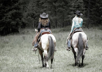 Photograph - Cowgirls Ride II by Athena Mckinzie