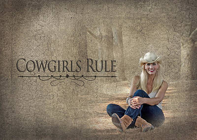 Photograph - Cowgirls Rule by Trudy Wilkerson