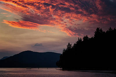Photograph - Cowichan Sunset by Randy Hall