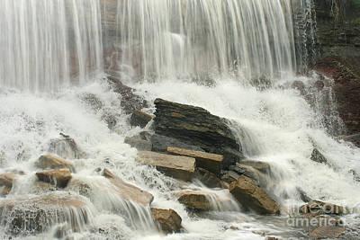 Photograph - Cowley Falls 3 by E B Schmidt