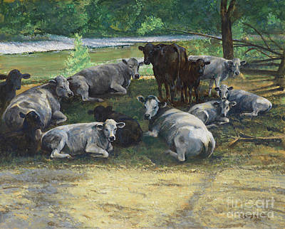 Cows At Big Creek Original