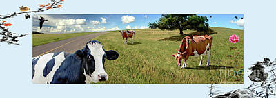 Photograph - Cows In Field, Ver 4 by Larry Mulvehill