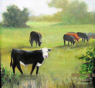 Painting - Cows In Pasture by Barbara Haviland
