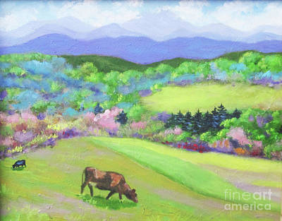 Painting - Cows On Hillside by Anne Marie Brown