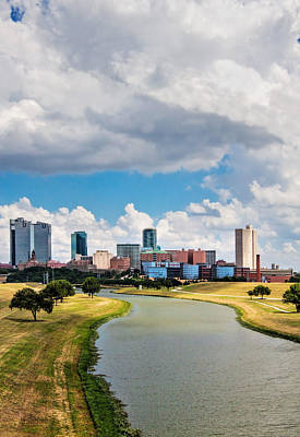 Photograph - Cowtown Skyline by David and Carol Kelly