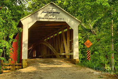 Photograph - Cox Ford Covered Bridge by Adam Jewell
