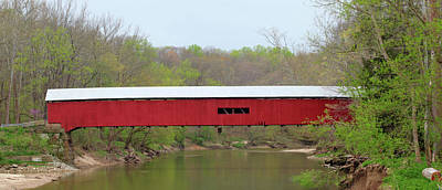 Photograph - Cox Ford Covered Bridge - Sideview by Harold Rau
