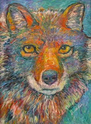 Painting - Coyote Chill Stage Two by Kendall Kessler