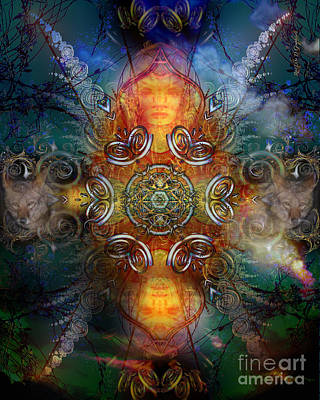 Digital Art - Coyote Dance by Rhonda Strickland