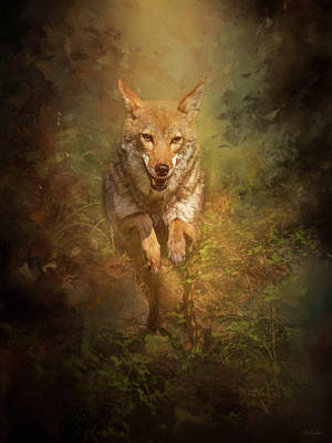 Digital Art - Coyote Energy by Nicole Wilde