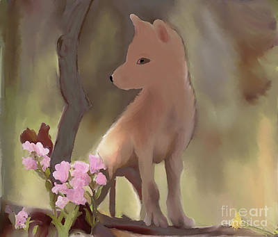 Pop Art - Coyote Kid by Priscilla Wolfe