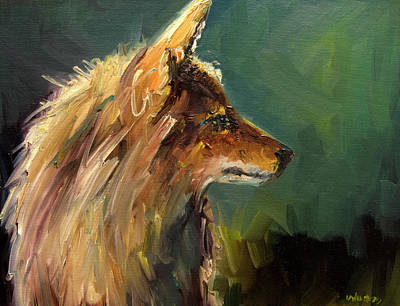 Painting - Coyote Light by Diane Whitehead