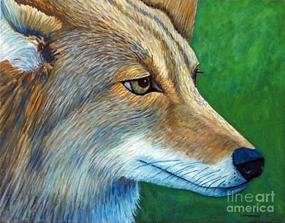 Coyote Art Painting - Coyote Logic by Brian  Commerford