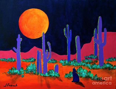 Painting - Coyote Moon by Jeanette French