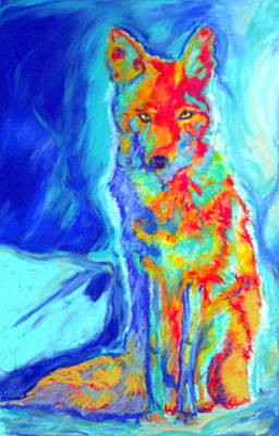 Art Print featuring the pastel Coyote by Pat Crowther