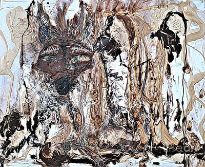Painting - Coyote The Trickster by 'REA' Gallery