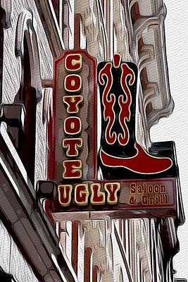 Photograph - Coyote Ugly Saloon And Grill -nashville  by Debra Martz