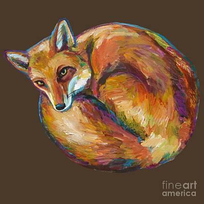 Painting - Coziest Fox by Robert Phelps