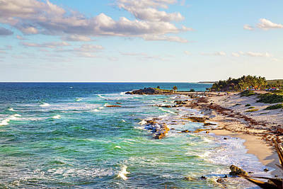 Photograph - Cozumel Mexico Carribean Sea Shoreline by Susan Schmitz