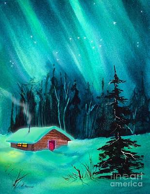 Painting - Cozy Cabin by Teresa Ascone