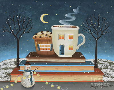 Surrealism Painting - Cozy Cafe by Mary Charles
