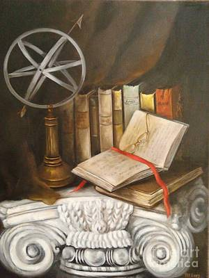 Painting - Traveling By Books by Patricia Lang