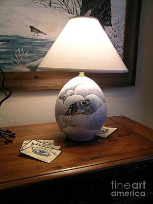 Painting - Cozy Couple Lamp 2 by Jennifer Lake