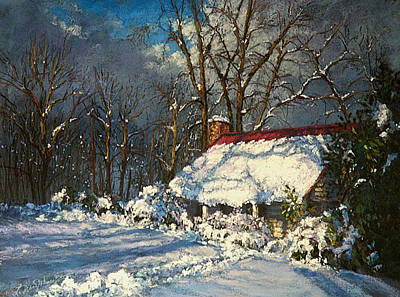 Painting - Cozy In The Snow by L Diane Johnson