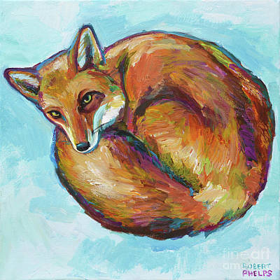 Painting - Cozy Red Fox by Robert Phelps